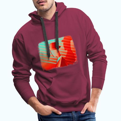 Men In Red Vintage 80s - Men's Premium Hoodie