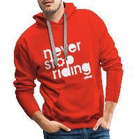 Never Stop Riding - Men's Premium Hoodie - red