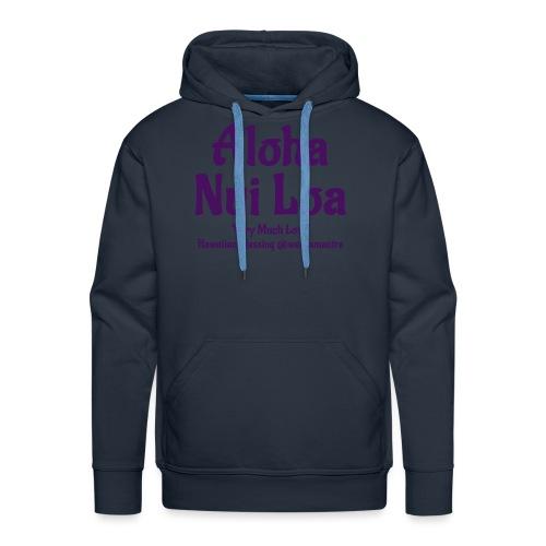 Aloha Nui Loa purple - Felpa con cappuccio premium da uomo