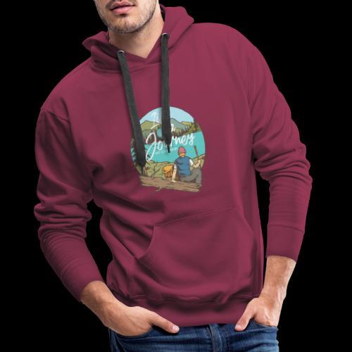 Life is a Journey - Wanderslust Wanderer T-Shirt - Männer Premium Hoodie