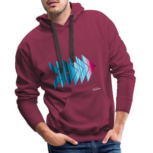 Warming stripes: Heißer ist nicht besser! - Männer Premium Hoodie