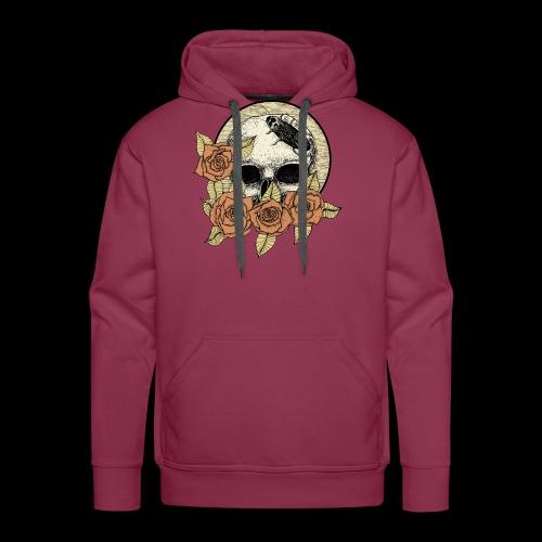 Rose et tête de mort - Sweat-shirt à capuche Premium pour hommes