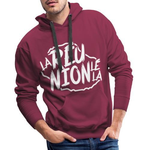 La réunion lé la - Sweat-shirt à capuche Premium pour hommes
