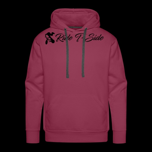 Ride T-Side - Logo and Text - Black - Men's Premium Hoodie
