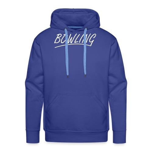 Bowling souligné - Sweat-shirt à capuche Premium pour hommes