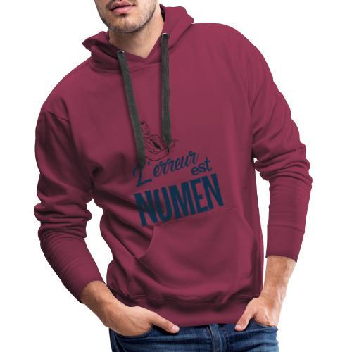 L erreur est Numen - Sweat-shirt à capuche Premium pour hommes