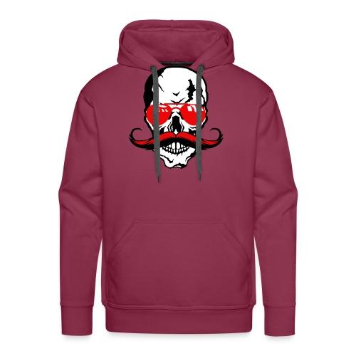 tete de mort crane moustache skull moustachu fanta - Sweat-shirt à capuche Premium pour hommes