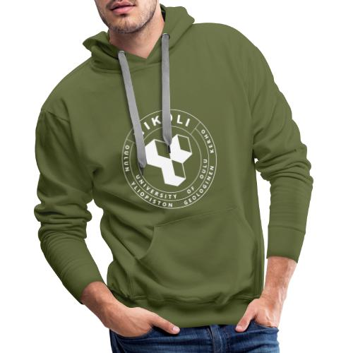 Nikolin valkoinen logo - Miesten premium-huppari