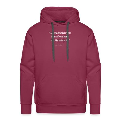 les soucis du croyant.... - Sweat-shirt à capuche Premium pour hommes