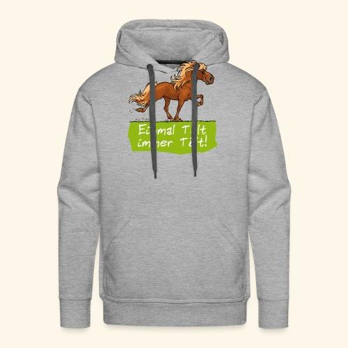 Island Pferd Tölt - Sweat-shirt à capuche Premium pour hommes