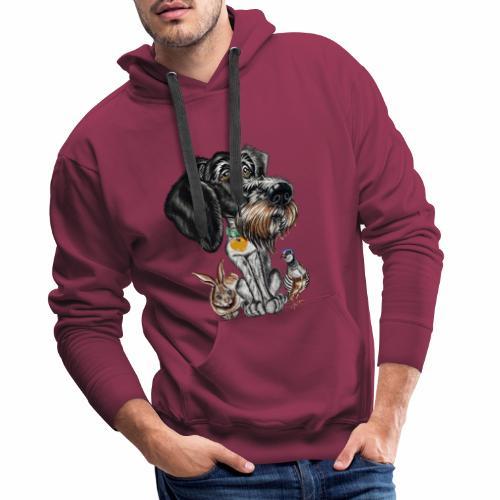 ULINA La perrita cazadora!! - Sudadera con capucha premium para hombre
