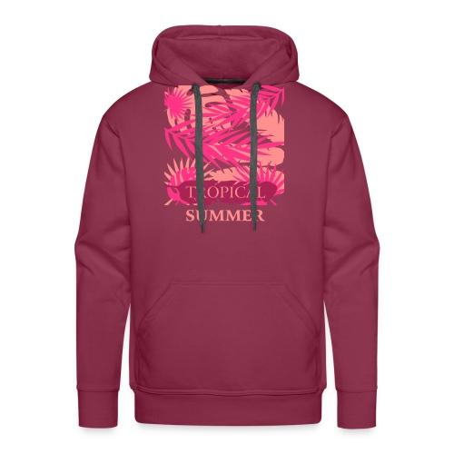Tropical Summer Leaf - Männer Premium Hoodie