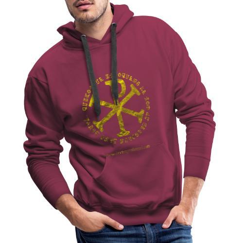 Chrisme or - Sweat-shirt à capuche Premium pour hommes