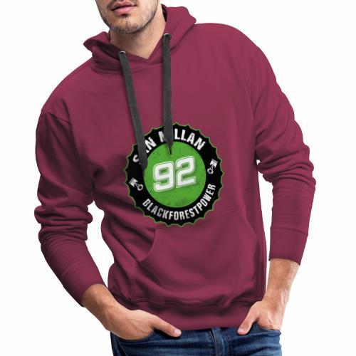 San Millan Blackforestpower 92 rund - schwarz - Männer Premium Hoodie