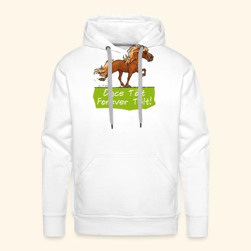 Icelandic horse tölt - Sweat-shirt à capuche Premium pour hommes