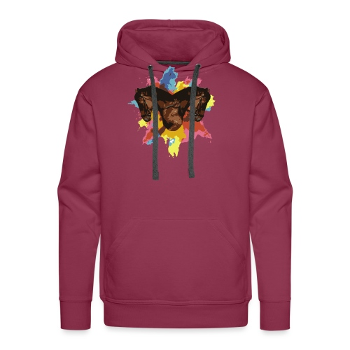 Cheval coloré - Sweat-shirt à capuche Premium pour hommes