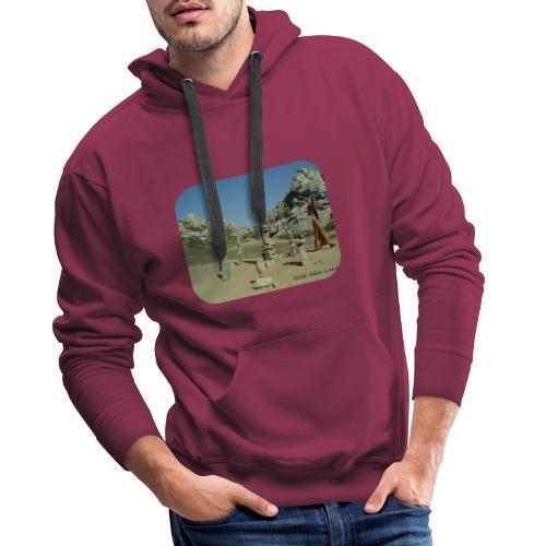 Valle della Luna - Felpa con cappuccio premium da uomo