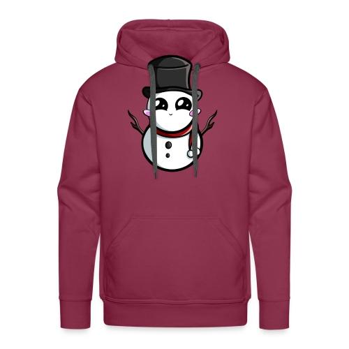 Kawaii Snowman ! - Sweat-shirt à capuche Premium pour hommes