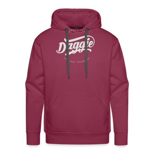 Daggies LOGO Serigraphie blanc - Sweat-shirt à capuche Premium pour hommes