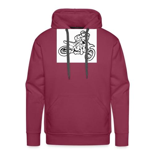 moto l k - Sweat-shirt à capuche Premium pour hommes