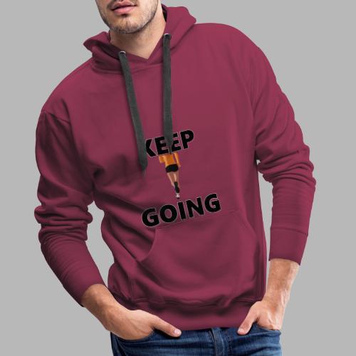 Keep going - Männer Premium Hoodie