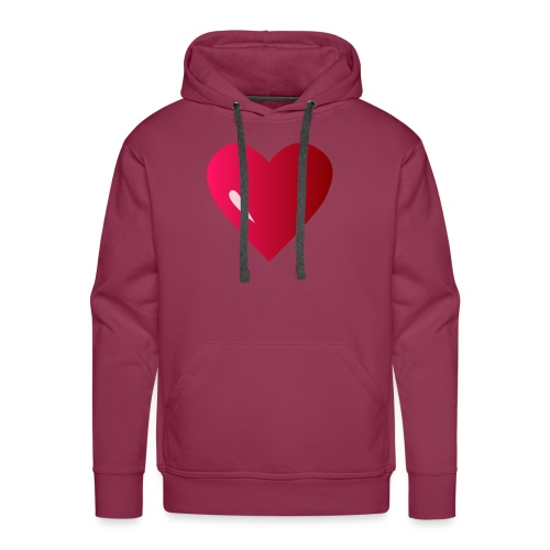 logo corazon rosa by Vexels - Sudadera con capucha premium para hombre