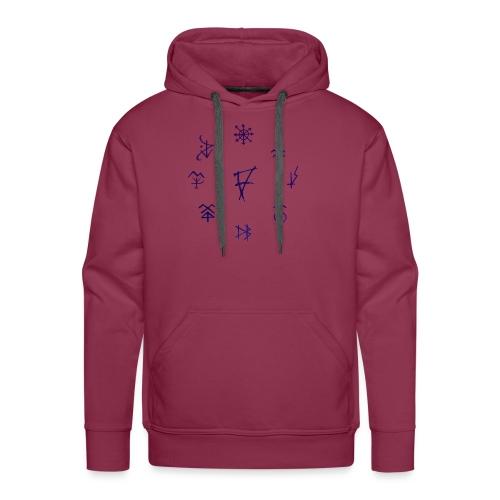 Círculo de runas - Sudadera con capucha premium para hombre