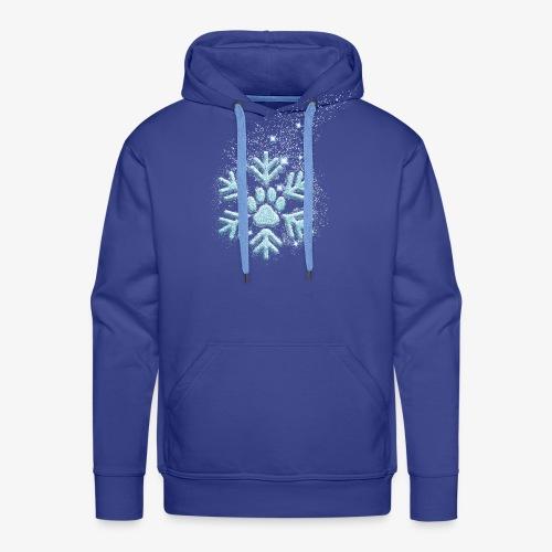 dog paw snowflake - Männer Premium Hoodie