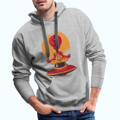Alien meditation - Men's Premium Hoodie
