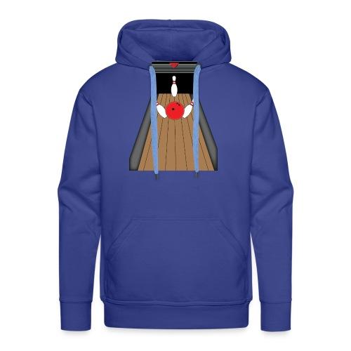 La piste de Bowling - Sweat-shirt à capuche Premium pour hommes
