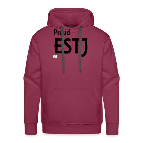 Proud ESTJ (MBTI) noir - Sweat-shirt à capuche Premium pour hommes