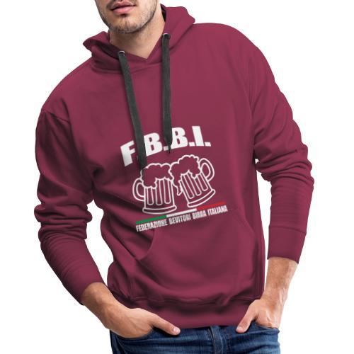 FBBI - Felpa con cappuccio premium da uomo