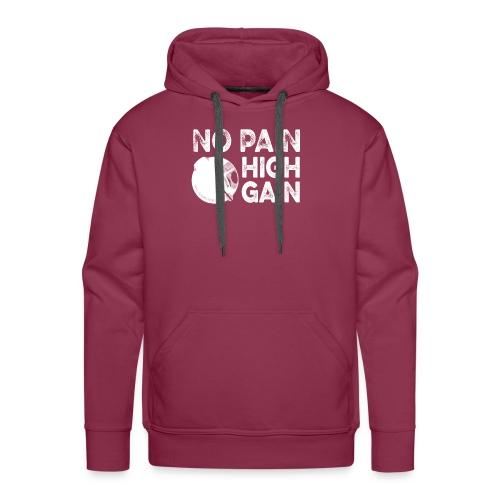 nopainhighgainwhite - Sweat-shirt à capuche Premium pour hommes