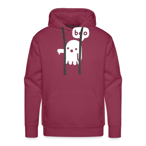 boo funny ghost for hallween - Sweat-shirt à capuche Premium pour hommes