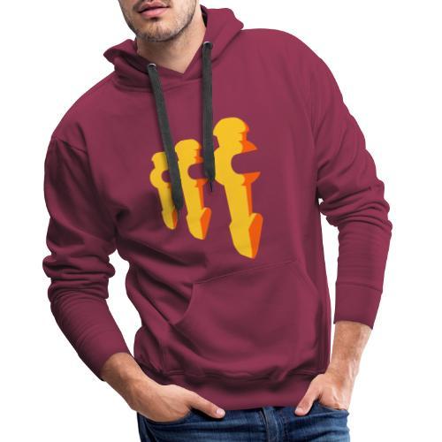Kickerfiguren - Kickershirt - Männer Premium Hoodie