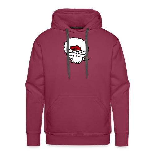 Weihnachtsschaf (rot) - Männer Premium Hoodie