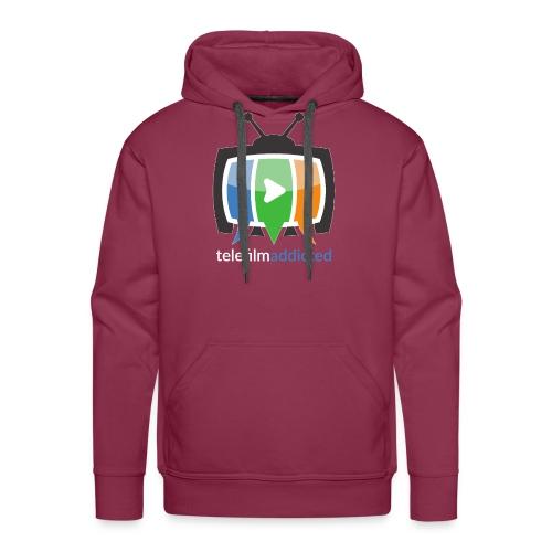 Logo Telefilm Addicted - Felpa con cappuccio premium da uomo
