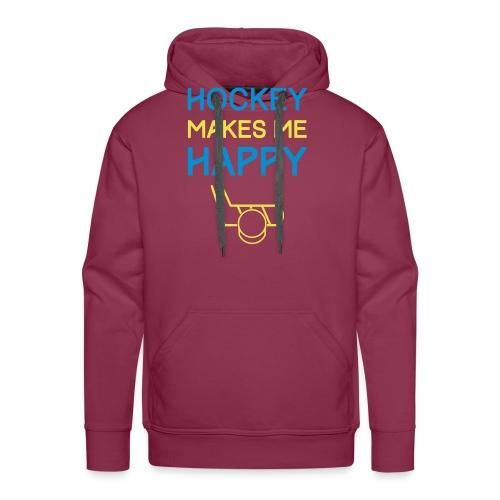 Hockey Makes Me Happy - Men's Premium Hoodie