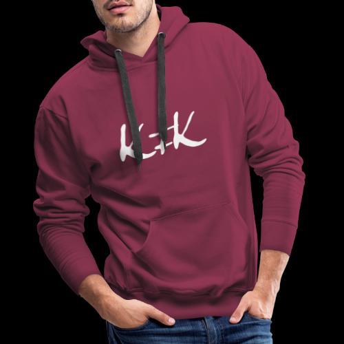 KFK logo blanco - Sudadera con capucha premium para hombre