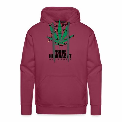 Frohe Highnacht Weihnachten Xmas Fun Hanf Cannabis - Männer Premium Hoodie