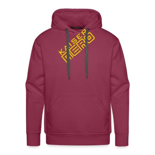 19758 2Ckaiser NERO Logo schraeg Plus - Men's Premium Hoodie