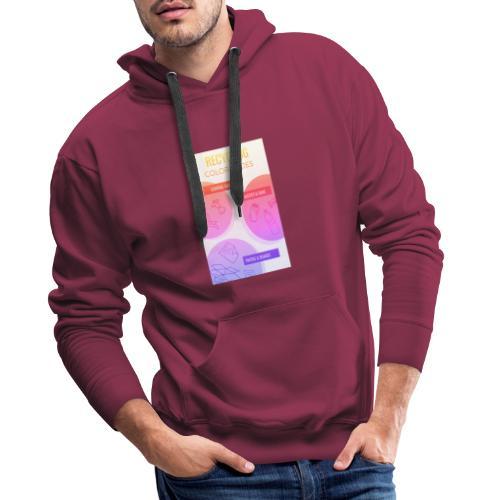 Design sans titre Devant 4 - Sweat-shirt à capuche Premium pour hommes