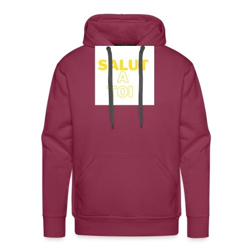 salut - Sweat-shirt à capuche Premium pour hommes