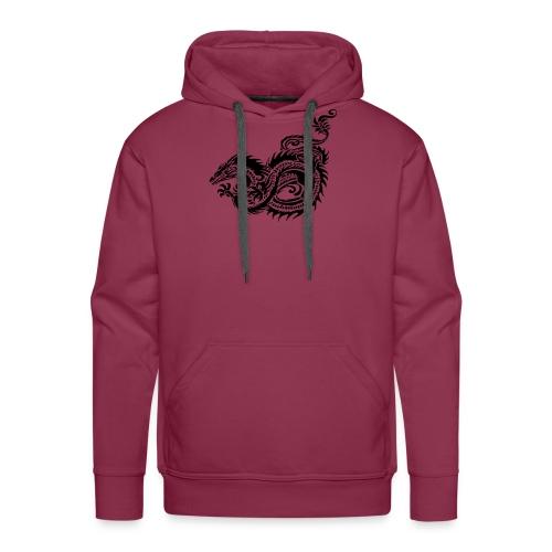 Dragon tribal mythique - Sweat-shirt à capuche Premium pour hommes