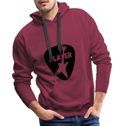 Bass Player T-Shirt mit Plektrum und Bassgitarre - Männer Premium Hoodie