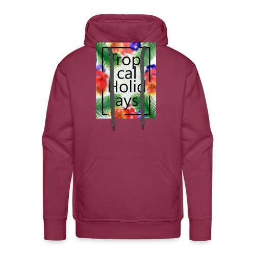 Tropical Holidays - Bluza męska Premium z kapturem