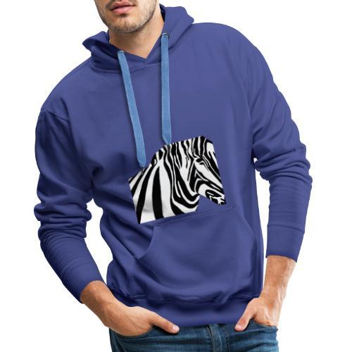 zebra - Sweat-shirt à capuche Premium pour hommes