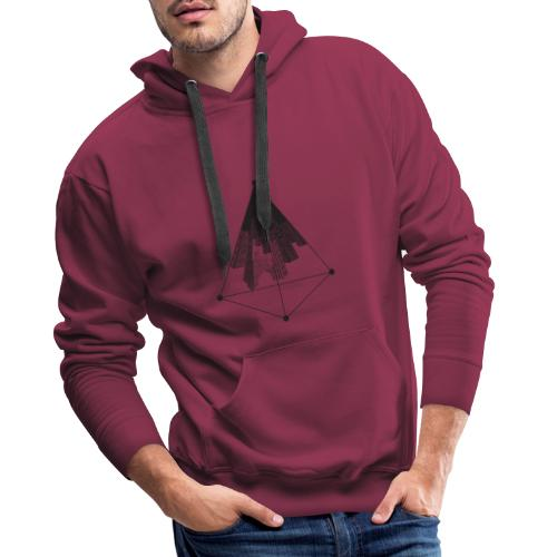 Ville triangle - Sweat-shirt à capuche Premium pour hommes