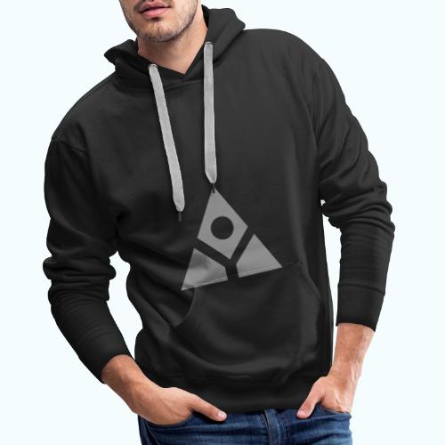Sacred geometry gray pyramid circle in balance - Men's Premium Hoodie