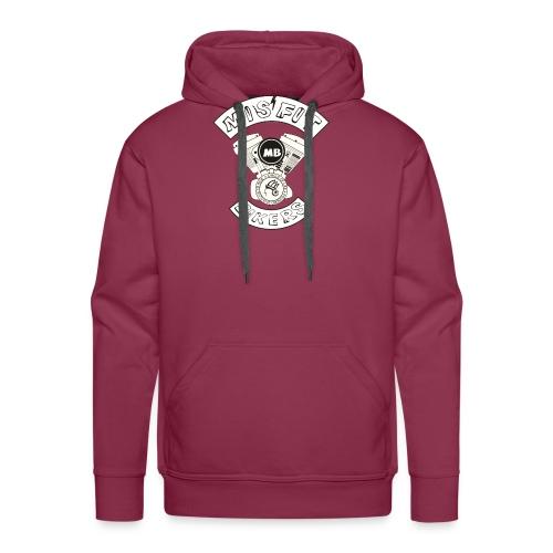 Misfit Bikers logo transparant PNG 001 - Sweat-shirt à capuche Premium pour hommes